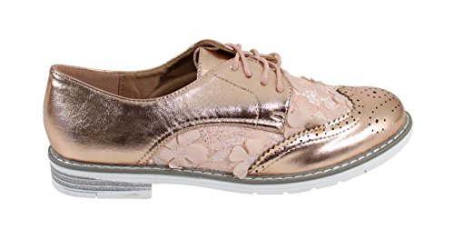Scarpe Donna Shoes Basse Champagne Stringate By pU15vq5