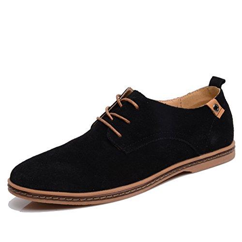 Men's Leather Casual Shoes Dress Autumn Big Feet Lace Up Fashion Slip On Black-brown F big sale cheap price RvoPNRrCmt
