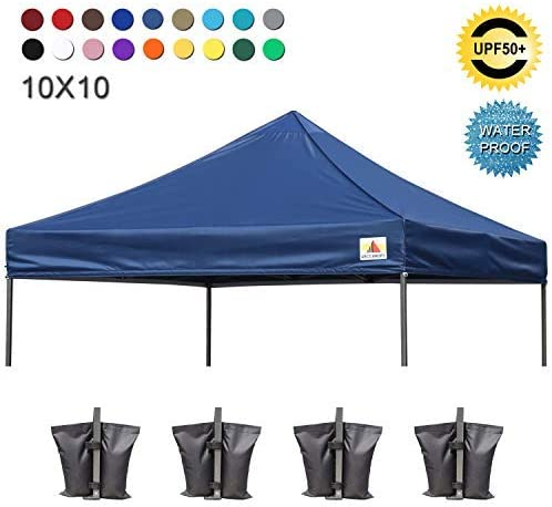 ABCCANOPY Pop Up Canopy Replacement Top Cover 100 Waterproof Choose 18 Color