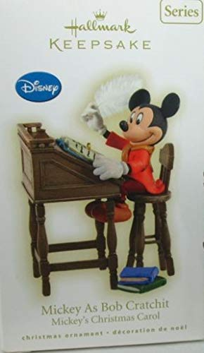 Mickey As Bob Cratchit Ornament-Hallmark Christmas Ornament