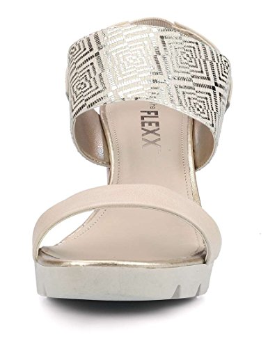 The Flexx Plateau Damen A Lot Give Sandalen Beige mit rrOxCp