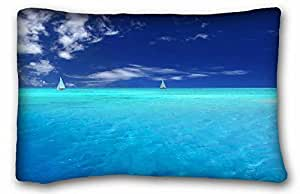 """Soft Pillow Case Cover Nature DIY Pillow Cover Size 20""""X30"""" suitable for Full-bed"""