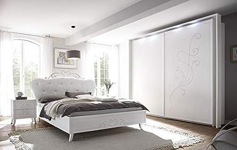 Dormitorio Fiamma con serigrafía somier + 2 somieres Rubin 90 ...