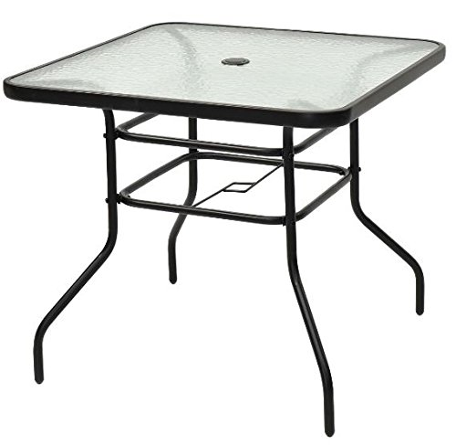 Cheap  K&A Company Outdoor Iron Table Wrought Vintage Patio Glass Pool Side Floral..