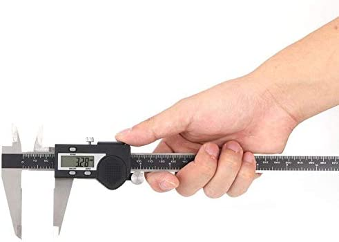HYY-YY Electronic Vernie, Sturdy Durable Multi-function Sturdy Durable Electronic Digital Vernier Caliper Stainless Steel Ruler Gauge Measuring Tool(0-200mm)