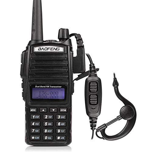 QUANBIAO UV-82 Dual Band Two Way Radio 136-174 and 400-520MHz Walkie Talkie Ham Radio (Black)