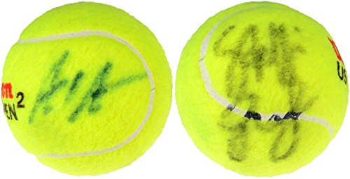 Andre Agassi, Steffi Graf Dual Signed Wilson US Open Tennis Ball - Fanatics Authentic Certified - Autographed Tennis (Andre Agassi Memorabilia)