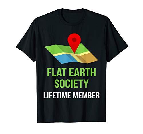 Flat Earth Society Members TShirt - Halloween Costume -
