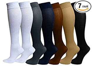 Compression Socks 7-pair Pack For Men & Women By Footloose