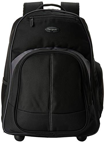 Swiss Army Atlas - Targus Compact Rolling Business and Travel Commuter Backpack for 16-Inch Laptop, Black (TSB750US)