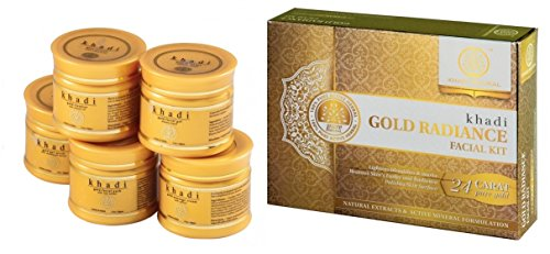 Khadi Natural Herbal Ayurvedic Gold Radiance Facial Kit with