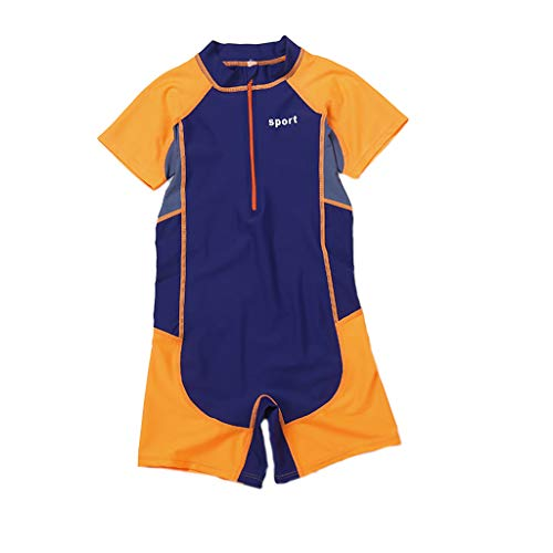 Fine Kids Wetsuit,2mm Neoprene Thermal Swimsuit,Long Sleeve Kids Wet Suits for Swimming Scuba Diving,Full Wetsuit for Girls Boys and Toddler (Orange, XXXL) ()