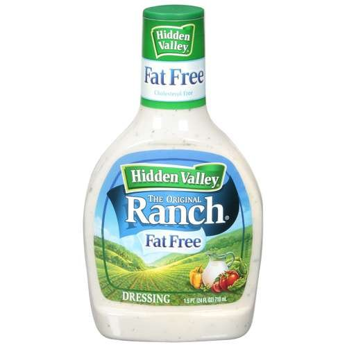 Hidden Fat Free The Original Ranch Dressing 24 OZ (Pack of 6)