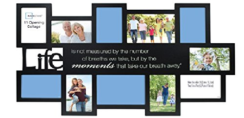 11 Opening Expressions Collage Frame Picture Wall Black Hanging Decor Family Album Mosaic