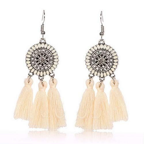 Tomikko A Fashion Bohemian Earring Women Vintage Long Tassel Fringe Boho Dangle Earrings | Model ERRNGS - 7748 - Crislu Earrings Emerald