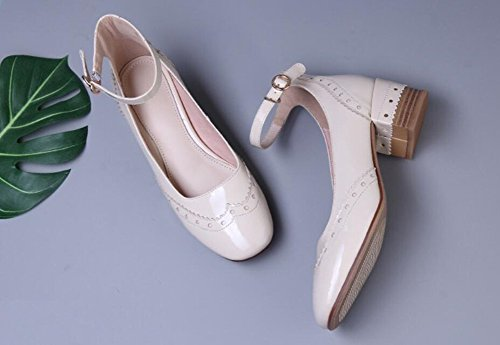 Piazza parola B comodo testa una casuale estate Donna Asakuchi Heel fibbia Sandali LJO Mid moda q8vwt6x