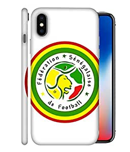 ColorKing Football Senegal 10 White shell case cover for Apple iphone X