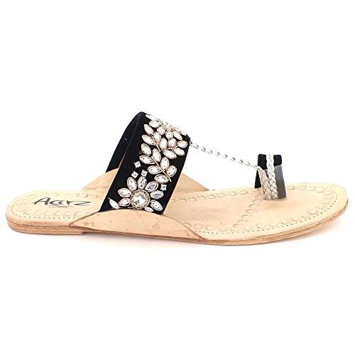 466df2994b6 Barato Mujer Señoras Cuero Auténtico Kolhapuri Chappal Toe-Post Casual  Comodidad Ponerse Plano Sandalias Zapatos
