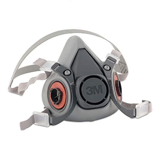 3M 6200 Medium Respirator Face Piece 1/2 Mask (2)