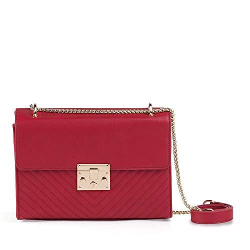 Bolsa Pequena Transversal Vermelha Estruturada