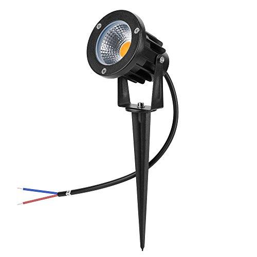 - Familite 7W COB LED Landscape Path Light, Outdoor Waterproof Decorative Spike Spotlight- AC/DC 12V (Warm White 2800-3000K)