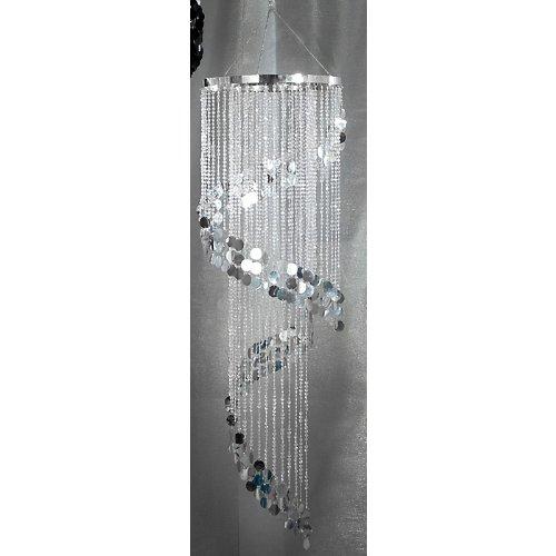 Shimmering Swirl Chandelier Silver