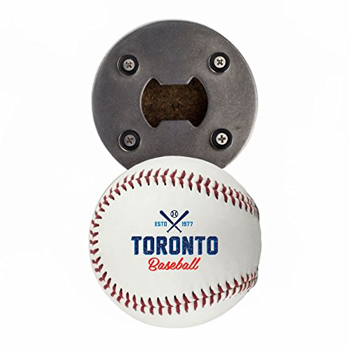 Toronto Bottle Opener, Made from a real Baseball, The BaseballOpener, Cap Catcher, Fridge Magnet