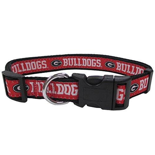 University of Georgia Nylon Adjustable Dog Collar (Large)