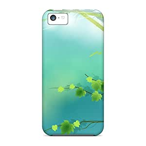 New Leaves Of Spring Tpu Skin Case Compatible With Iphone 5c