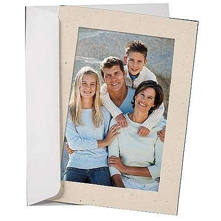 Simplicity NATURAL FLAX Photo Insert Card sold in 10s - 4x6