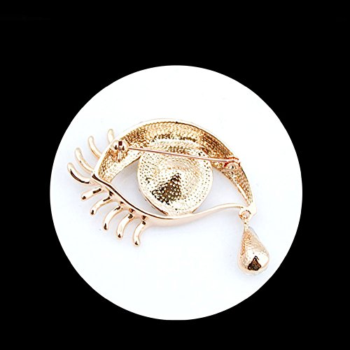 clothing alloy angel decoration ornament scarves tears boutonniere of 3 Gold Blue crystal 8 brooch Blau 8cm brooch MoGist 4 wYAq8xFq
