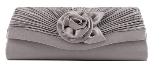 Scarleton Satin Flap Clutch H315817 – Silver, Bags Central