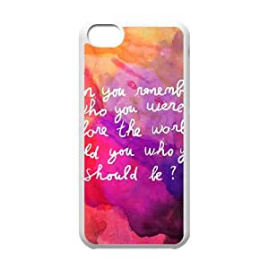 iPhone 5c Cell Phone Case White Remember who you are YWU9344625KSL