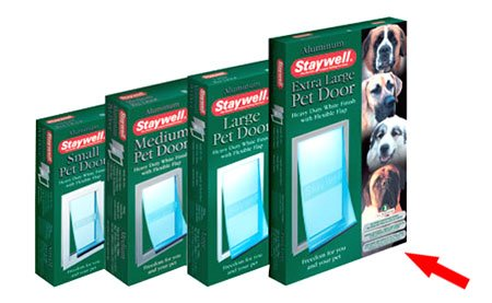 (Staywell) Heavy Duty Aluminium Pet Door (Extra Large) for Dogs up to 100kg White (660EFS) [17475]