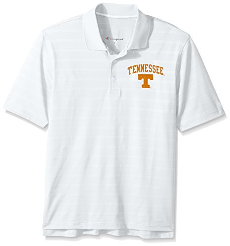 NCAA Champion Men's Textured Solid Polo, Tennessee Volunteers, ()
