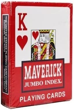 Maverick Playing//Poker Cards Red New /& Sealed