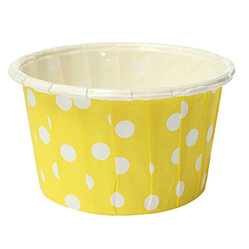 [60 pcs Paper Cupcake per Liner Paper Cake Muffin Case Dessert Baking Cups Yellow] (Circus Style Dance Costumes)