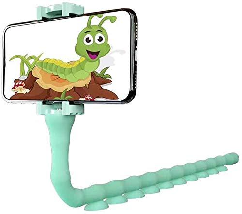 KD 귀여운 벌레 LAZY 셀룰라 전화 홀더 대 360 구부릴 수 있는 가동 가능한 흡입 컵 전화 산 죔쇠를 창의적으 브라켓  | APPLE | LG 전자(민트 그린)