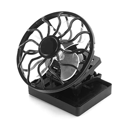 Winbang - Ventilador portá til con Clip para energí a Solar y Ventilador de Aire Acondicionado, Panel de energí a para el Sol, refrigerador de Verano, Ventilador de refrigeració n de Aire para Coche Panel de energía para el Sol