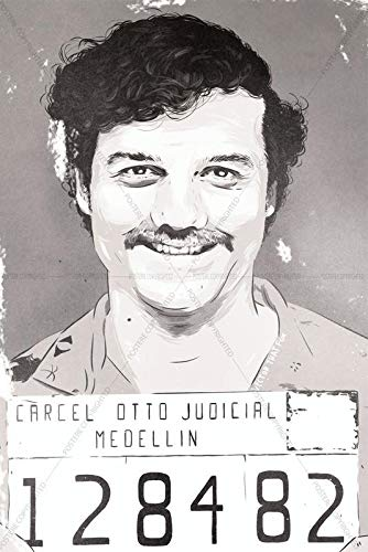 Postere Narcos Pablo Escobar Famous Mugshot Painting Styled