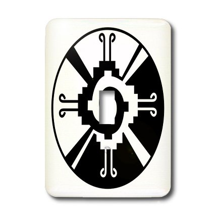 3dRose LLC lsp_101008_1 Hunab Ku Indian Mexican Symbol Single Toggle Switch by 3dRose