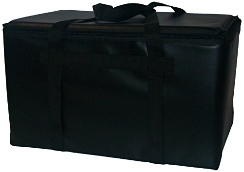 TCB Insulated Bags YC-36-Black Insulated Yacht Club Bag, Holds 36 Cans, 12'' x 18'' x 12'', Black by TCB Insulated Bags
