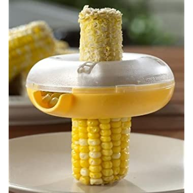 Beyend Yellow Clear Donut Shaped One Step Corn Peeler (Corn Peeler)