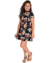 ffeba2478a9 Girls Plus Size Gigi Neck Floral Print A-Line Dress (See More Colors and