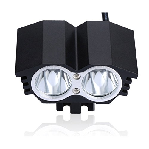 LEORX Bike Bicycle Waterproof 4-mode LED Light Headlamp / Rearlight / 18650 Battery Pack (Black)