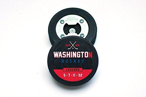 Opener Washington Bottle (The PuckOpener Hockey Puck Bottle Opener - Washington Legends)