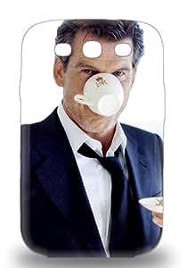 For Galaxy S3 Protector 3D PC Case Pierce Brosnan American Male Shattered Phone Cover ( Custom Picture iPhone 6, iPhone 6 PLUS, iPhone 5, iPhone 5S, iPhone 5C, iPhone 4, iPhone 4S,Galaxy S6,Galaxy S5,Galaxy S4,Galaxy S3,Note 3,iPad Mini-Mini 2,iPad Air )