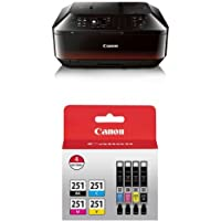 Canon PIXMA MX922 Wireless Color Photo Printer with Scanner, Copier and Fax with Genuine Canon Ink Value Pack