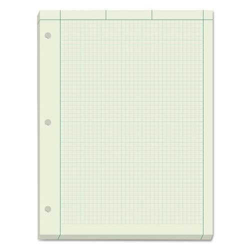 Tops Business Forms - Engineering Computation Pads,3-HP, 20 lb., 8-1/2''x11'', GN