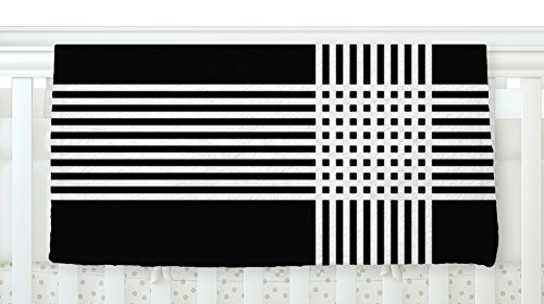 KESS InHouse Trebam Krizanje v2 White Black Fleece Baby Blanket 40 x 30 [並行輸入品]   B077YZLLG7